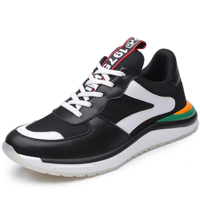 FZNYL nouveaux hommes mode en caoutchouc Sneaker décontracté talon bas plat léger Sport Tennis chaussures blanc noir plate-forme chaussures