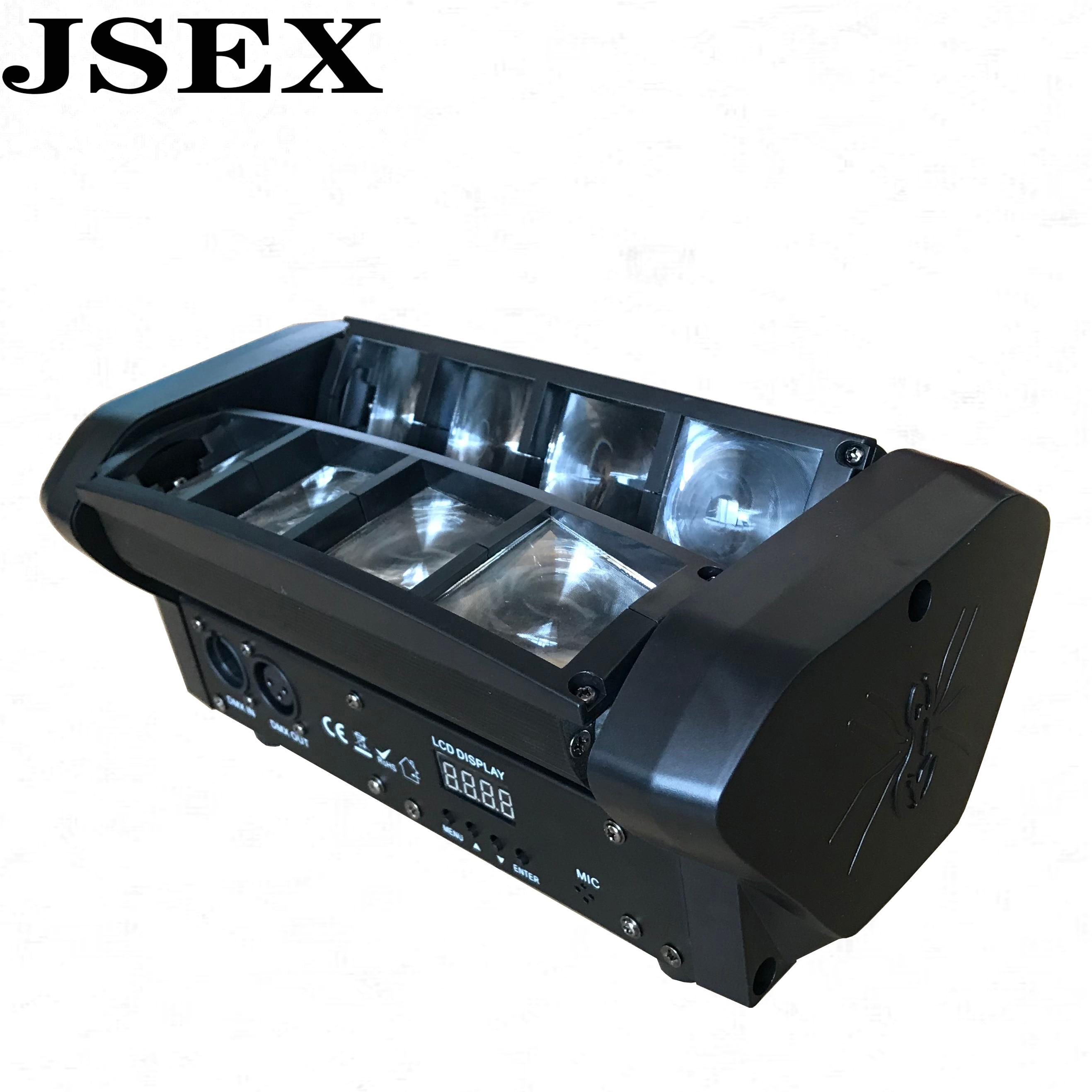 Disco DMX512 Stage Light LED RGB Moving Head Light 8X10W LED Spider Beam For DJ Nightclub Bar