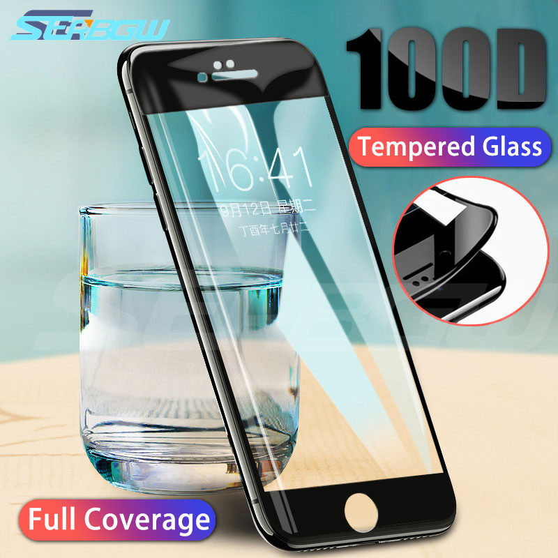 100D Tempered Glass On For IPhone 7 6 6S 8 Plus Full Cover Screen Protector For IPhone 11 Pro X XR XS Max Protective Glass Film