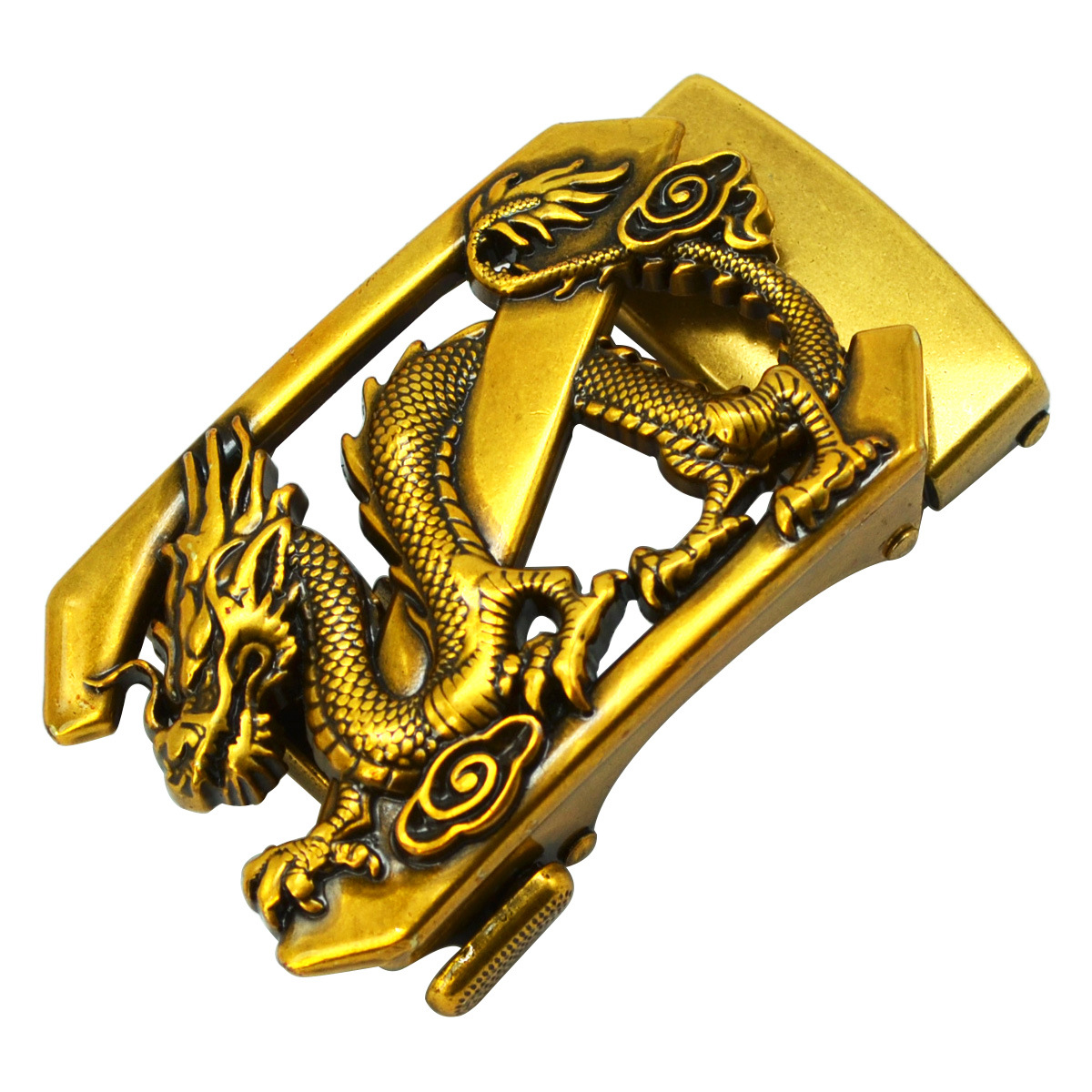 Gold Dragon Belt Buckle Head Men's Automatic Belt Buckles Business Accessories Dropshipping 2019