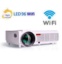 Poner Saund LED96 Wifi LED Proyektor 3D Android WIFI HD BT96 Projector 1080 P HDMI Video Multi Screen Theater Rumah theater(China)