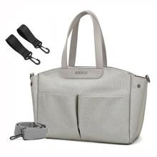 Mamãe saco de fraldas bolsa de ombro das mulheres saco de mensageiro mãe viagem carrinho de bebê saco de armazenamento de cuidados