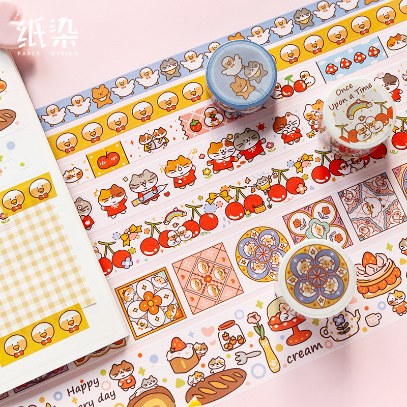 1set/1lot Washi Masking Tapes Fairytale Town Series Decorative Adhesive Scrapbooking DIY Paper Japanese Stickers 5M