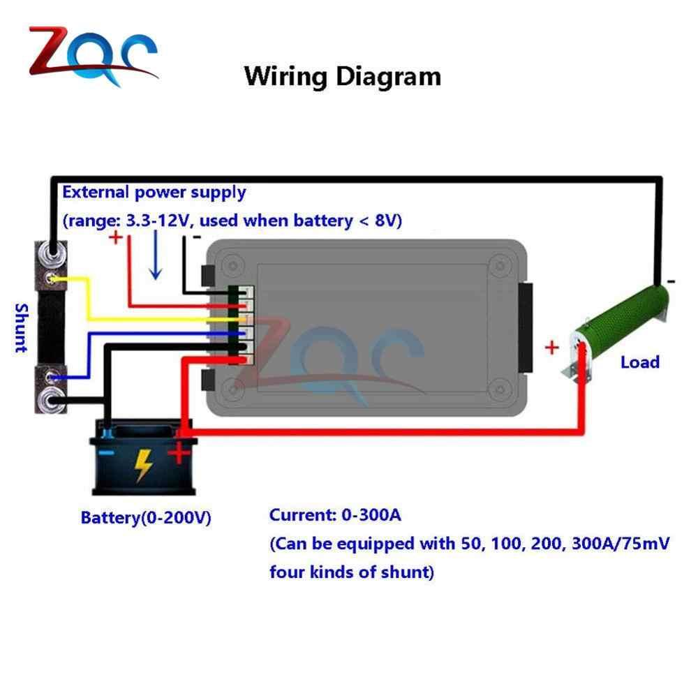 Dc 0 200v 0 300a Digital Voltmeter Ammeter Car Battery Tester Capacity Resistance Voltage Current Power Energy Meter Monitor Aliexpress