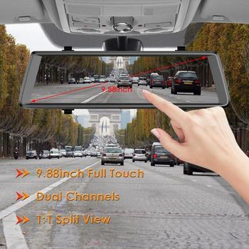 H900 9.88 inch Rearview Mirror Dash Cam FHD 1080P Car DVR Video Recorder for Phisung up and down Arrows Adjust Frame image