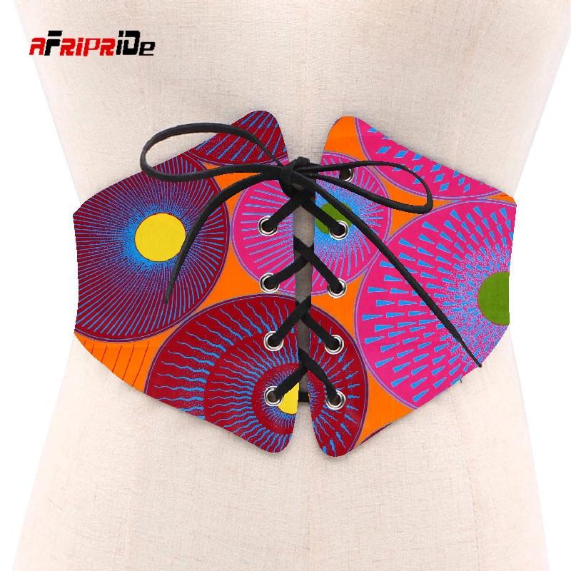 2020 African Print Waist Corset Belt Button Skirts for Women Gift African Waist Jewerly Ladies Lace-Up Belts Size M-6XL SP039