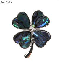 Hot selling abalone shell brooch / Simple series women clover