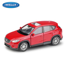 WELLY 1:36 Mazda CX-5 SUV Alloy car model die-casting model car simulation car decoration collection gift toy цена и фото
