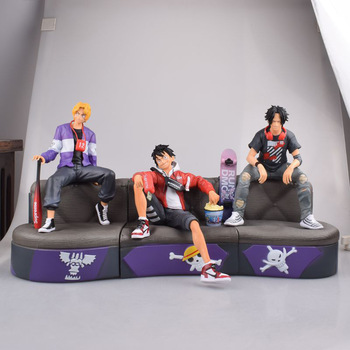 Anime ONE PIECE Fashion Style Luffy Ace Sabo Figure Model Toy 1