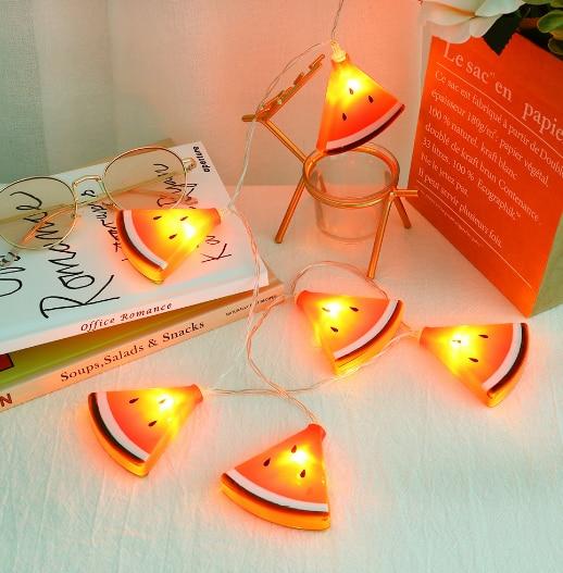 10LEDs Simulation Cactus/Maple Leaf/Watermelon/ Kiwi String Lights Copper Line Fairy Lights Home Garden Christmas DecorationLamp
