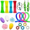 20/24pcs Fidget Toys Pack Set Mesh And Marble Fidget Toy Bing Toy Squishy Antistress Fidget It Toys Autism/ADHD/Anxiety TPR
