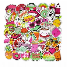 50pcs Waterproof Cartoon Lovely Girl Stickers Cute Cool Pink INS Style For The Laptop Fridge Phone Skateboard Suitcase
