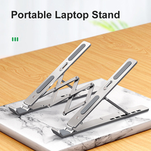 Foldable Laptop Stand 6 Adjustable Angles Aluminum Notebook Computer Stand Riser Anti-skid Angle Height Adjustable Bracket Home
