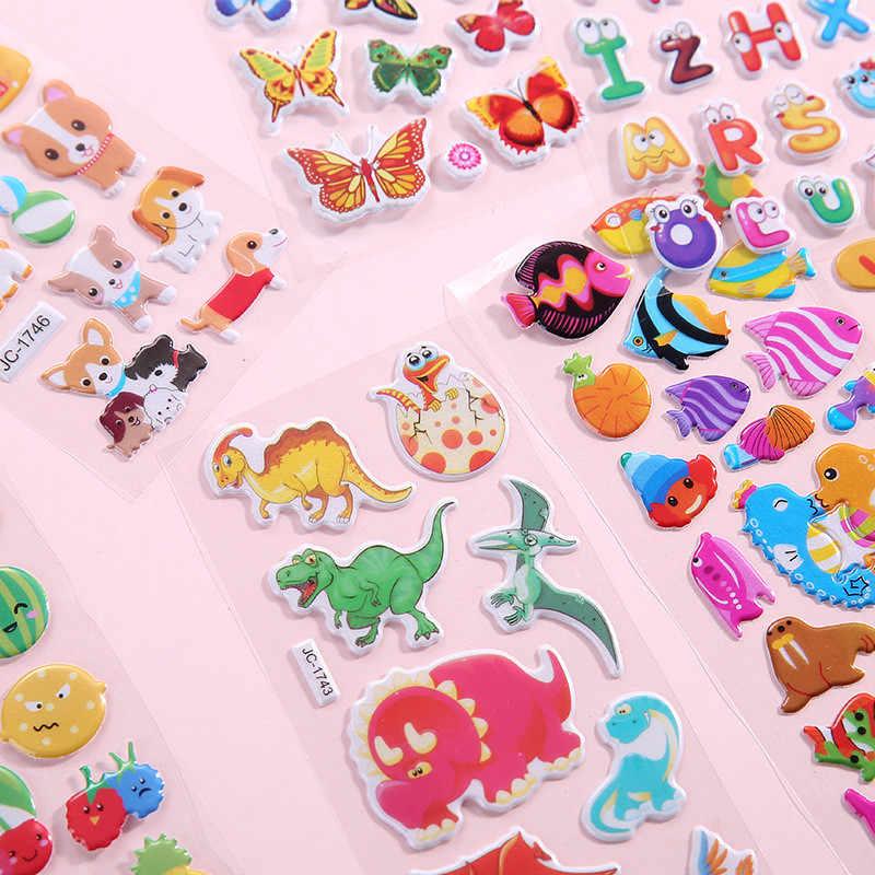 עמיד למים 3D קריקטורה בעלי החיים קיר מדבקת בועת מדבקות DIY תינוק צעצועים לילדים ילד ילדה חדר קישוט קיר מדבקות מדבקות