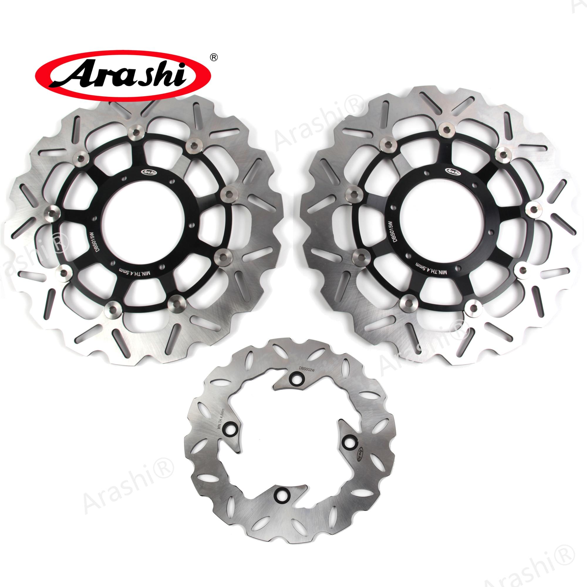Arashi 1 Set Front Brake Disks Rear Brake Disc Rotors For HONDA CBR600RR CBR 600 RR 2003 2004 2005 2006 2007 2008 2009 2010 2011