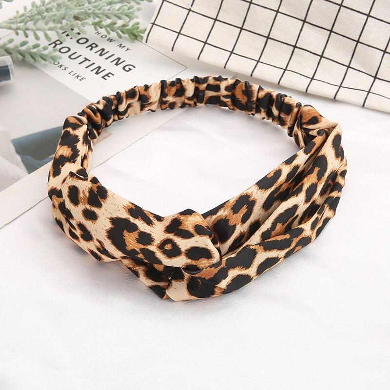 Fashion Floral print Knot Women Headband Vintage Hairband Girls Headwear Leopard Headband Hair Accessories