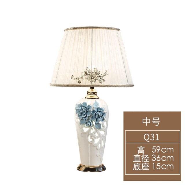 Européen en céramique Hall lampe de Table à la main chaud moderne Simple salon chambre chevet étude lampes de Table