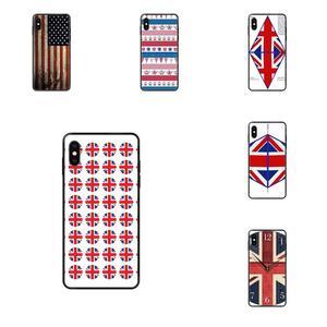 Funda de teléfono con bandera de Jack de la Unión Británica de Inglaterra para Apple iPhone 11 12 Pro 5 5S SE 5C 6 6S 7 8X10 XR XS Plus Max