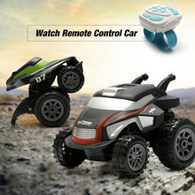 цены RC Stunt Car 1/32 2.4G 2CH Remote Control Car Watch Control Mini Stunt Vehicle RC Off-Road Racing Car RC Toy Gift For Kids