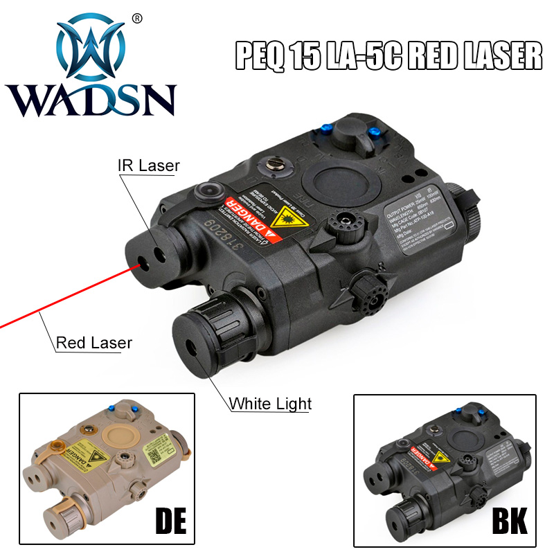 Airsoft LA PEQ15 Red Dot Laser Tactical LED White Light PEQ 15 IR Laser Flashlight Combo Hunting Softair Peq-15 Weapon Lights