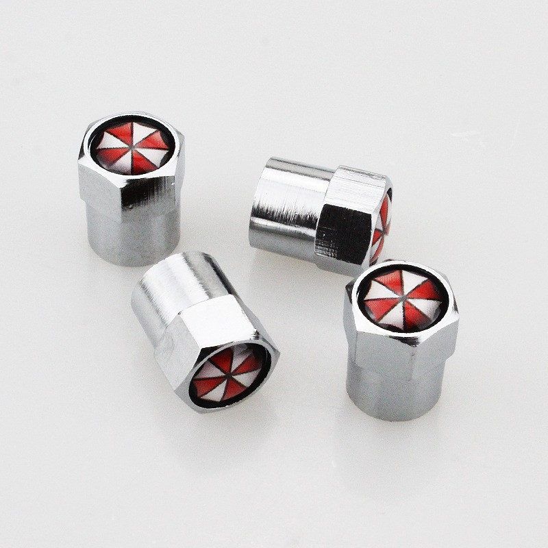 4pcs Car Styling Aluminum Alloy Umbrella Corporation Car Wheel Tire Valves Tyre Air Caps Case  Car Styling