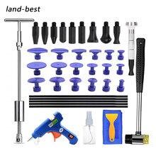Terra-melhores ferramentas de reparo do corpo do carro paintless granizo dent remoção conjunto de ferramentas martelo deslizante t-bar pistola de cola para o veículo