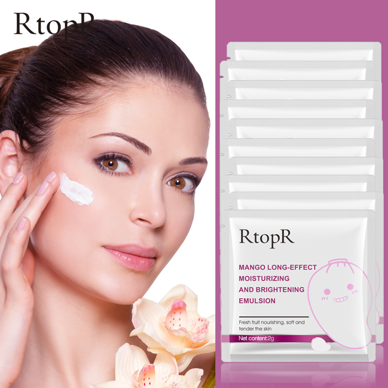 RtopR 10pcs Moisturizing Brightening Hyaluronic Acid Emulsion Face Care Anti-Aging Anti Wrinkle Cream Oil-control Shrink Pore