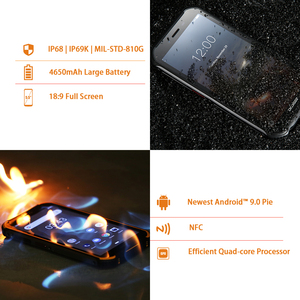 Image 4 - DOOGEE S40 IP68/IP69K 4G Robuste Handy 3GB RAM 32GB ROM Android 9,0 5,5 zoll 4650mAh MT6739 Quad Core 8,0 MP 4G Smartphone