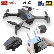 Rc-Drone Quadcopter Dual-Camera FPV Headless-Mode GPS HD 4k WIFI H14 Foldable Electric-Adjustment