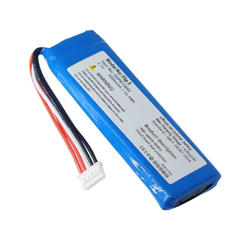 GSP872693 3.7v 3000mah batterie pour JBL Flip 3 Flip 3 GRIS GSP872693 P763098 03