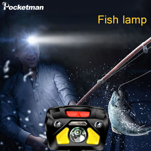 8000lm powerful fishing light LED induction headlight built-in battery USB charging head lamp flashlight hand-free hiking torch