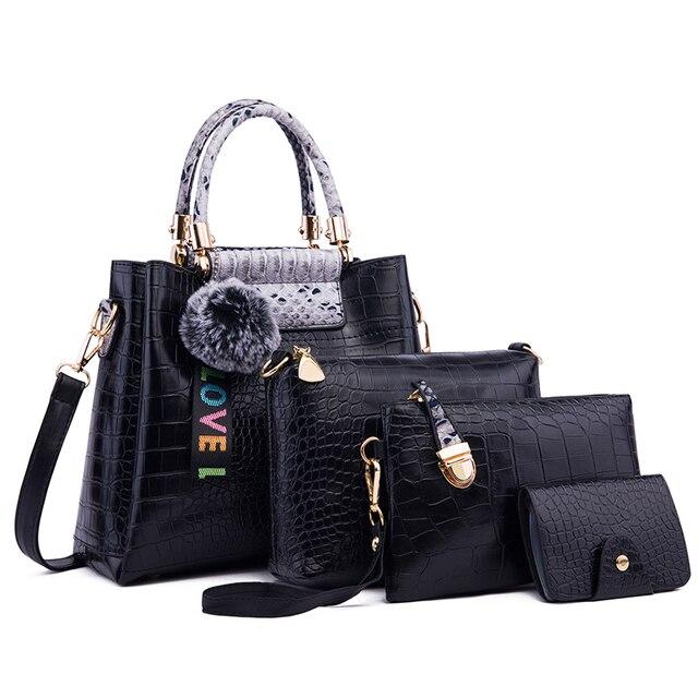 Ceossman 4 pçs/set bolsa feminina sacos de mão das senhoras bolsas de luxo bolsas femininas sacos de grife para a mulher 2020 bolsa saco composto do plutônio 2