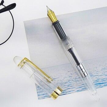 LORELEI акриловая смола прозрачная авторучка с золотым зажимом Iridium EF/F 0,38/0,5 мм с конвертером Подарочная чернильная ручка для бизнеса >> Pens Supplier Store