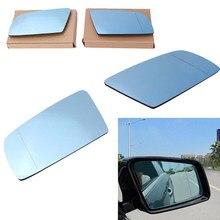 Vidro com asas laterais esquerda para bmw, para bmw 5 e60 e61 2003 2004 2005 2006 2007 2008 elétrico quente traseiro vidro espelho vidro