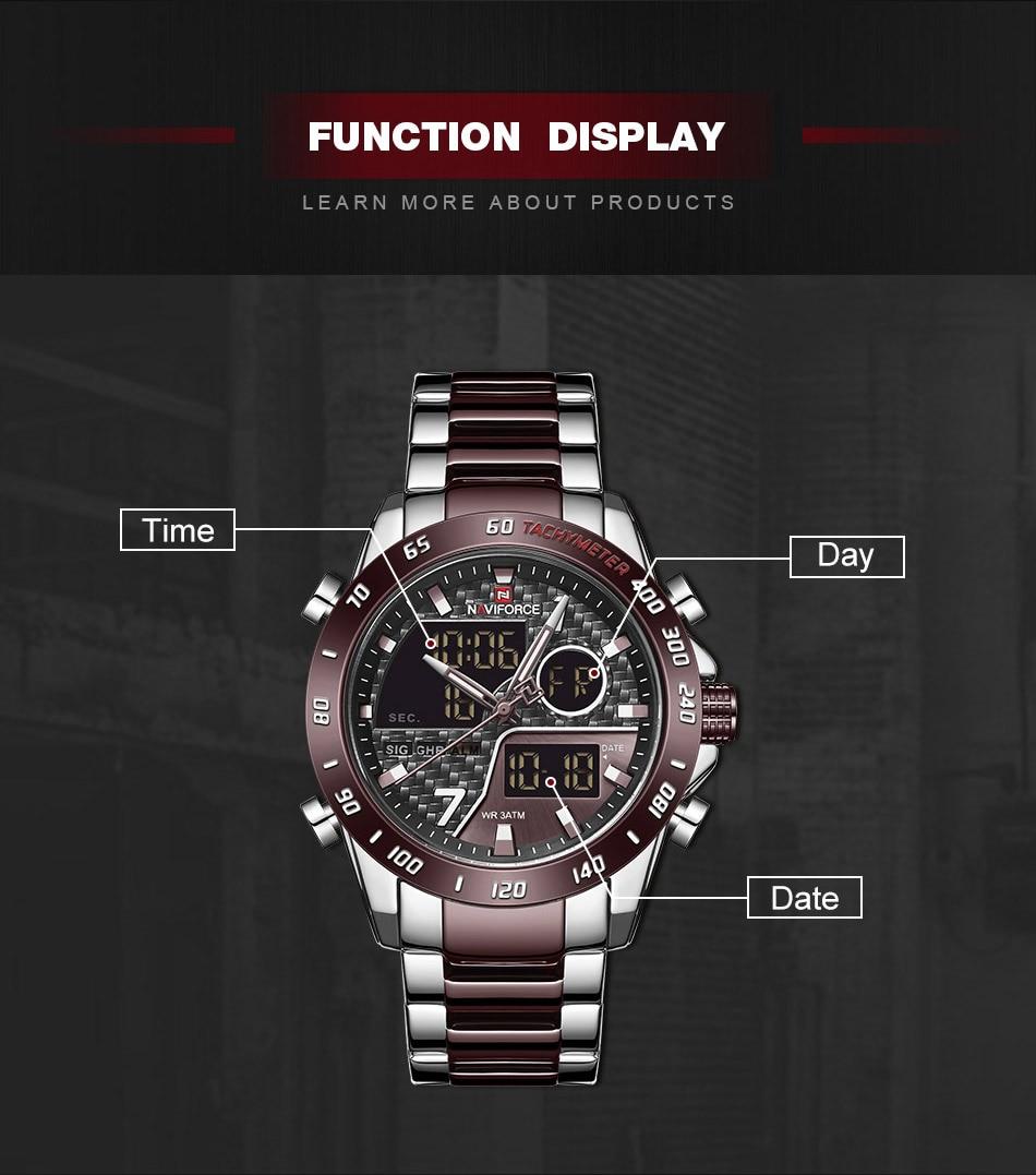 He687eddf5b5142c0a0824584e3aa077cG NAVIFORCE Men Digital Watch LED Sport Military Mens Quartz Wristwatch Male Luminous Waterproof Clock Watches Relogio Masculino