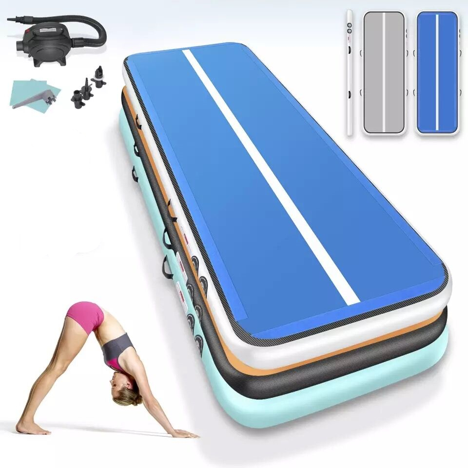 Hot sale!2m 3m 4m Gymnastics Mats Inflatable Air Track Yoga Mat Olympic Gymnastics Tumble Airtrack Gymnastics Air Floor for Kids