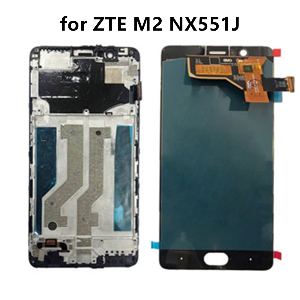 "5.5"" For ZTE Nubia M2 NX551J LCD Display Touch Screen Digitizer Glass Panel Assembly with Frame(China)"