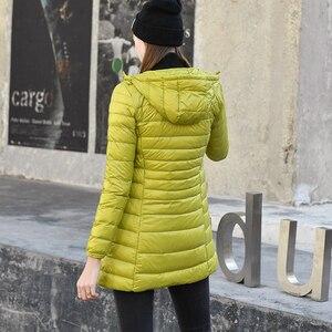 Image 3 - Manteau extensible pour femmes, veste bouffante légère à capuche, mince, chaud, pour Sports de plein air, voyage, 7XL, Parka