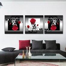 Affiches et imprimés roses rouges et blanches, toile minimaliste, peinture murale nordique, tableau d'art mural ou décor de maison pour salon