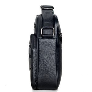 Image 2 - Męskie torebki ze skóry naturalnej męskie wysokiej jakości skóra bydlęca skórzane torby kurierskie męskie torby biznesowe Ipad średni rozmiar teczki Tote