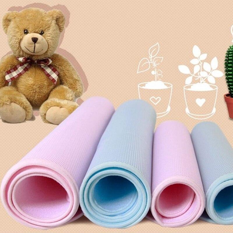 Детские бамбуковые многоразовые подгузники, Детские Водонепроницаемые матрацы, пеленальный матрац, трехслойный матрац для младенцев