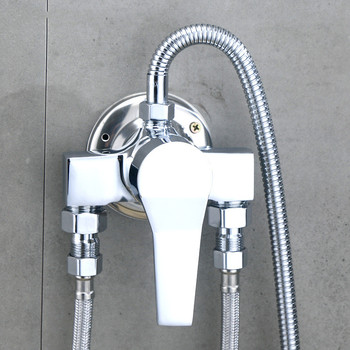 Hot And Cold Bathroom Mixer Mixing Valve Bathtub Faucet Chrome Thermostatic Shower Faucets Set Tap