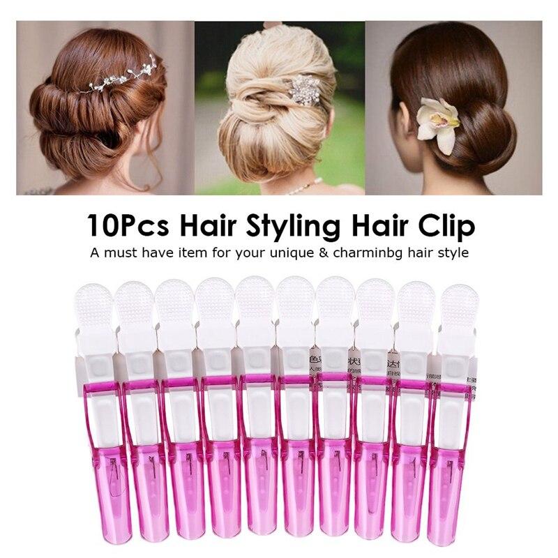 10 pçs plástico abutment penteado grampo de