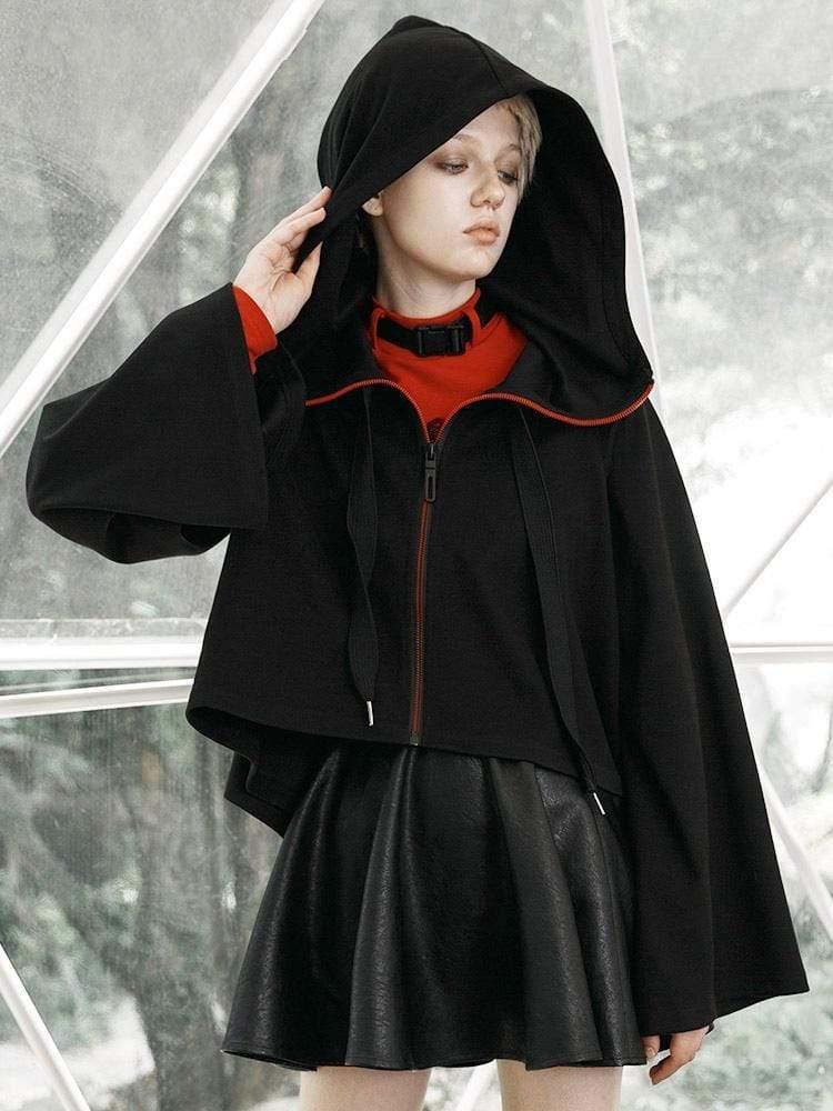 Punk Rave Vrouwen Gothic Rits Hooded Heks Korte Jassen PY 438XD