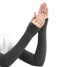 Unisex autumn and winter warm sleeves cashmere extended arm sleeves false sleeves driving air-conditioned room