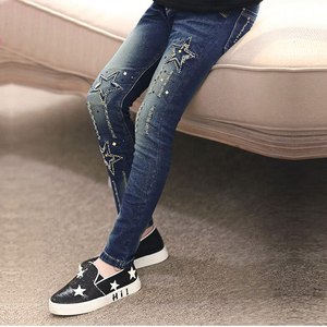 Image 3 - 2020 autumn childrens clothes girls jeans casual slim thin denim baby girl jeans for girls big kids jeans long trousers