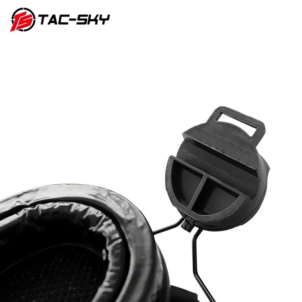 Купить с кэшбэком TAC -SKY COMTAC III Tactical Helmet Bracket Headphone Outdoor Hunting Sports Noise Reduction Tactical Walkie Talkie Headset  BK