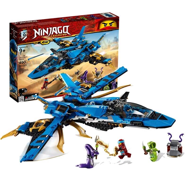 2019 New 549Pcs Ninja Jay's Storm Fighter Compatible Legoingery Ninjagoed 70668 Building Blcoks Toys Figures For Children Gift