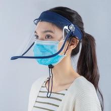 Visor-Cap Protective-Hat Face-Shield Full-Cover-Mask Flip-Up Rotatable Transparent Anti-Droplet