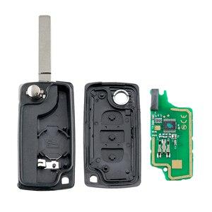 Image 4 - 3 tasten Lampe Smart Remote Auto Schlüssel für Citroen C2 C3 C4 C5 C6 C8 VA2 Klinge oder HU83 Klinge CE0536 FRAGEN oder FSK für Citroen Schlüssel